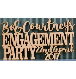 ENGAGEMENT PARTY SIGN  - M628